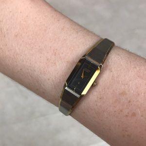 Citizen vintage yellow gold watch quartz Japan MCM